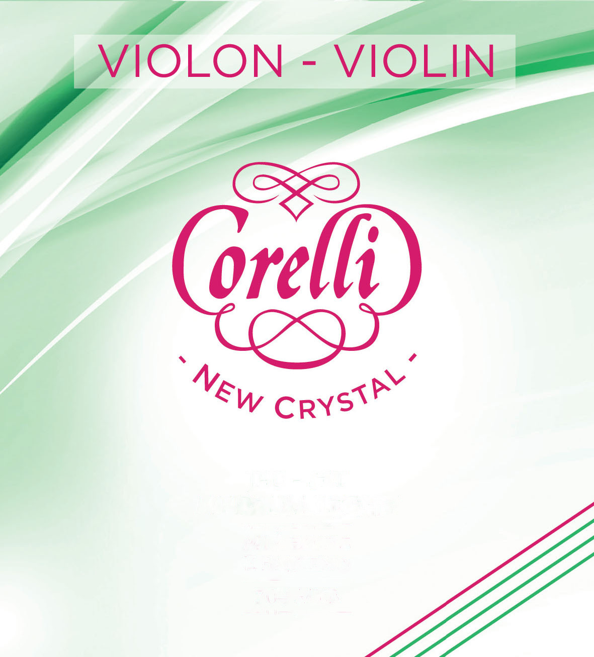 Corelli New Crystal medium light sats (E kula) Violinsträng