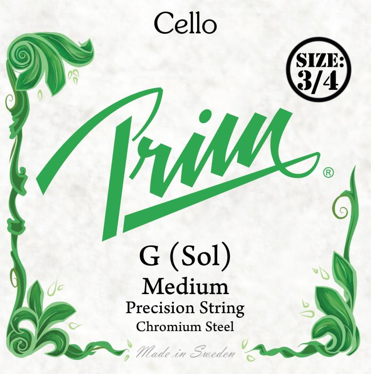 Prim medium G 3/4 Cellosträng